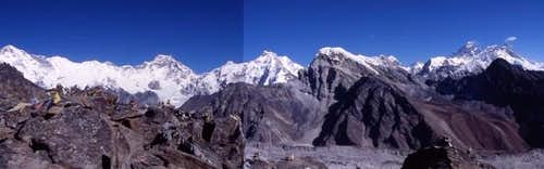 90 degree panorama from Gokyo...