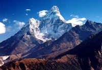 Ama Dablam on the walk to the...