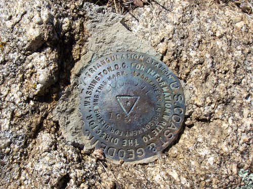 Lookout Mountain Survey Marker