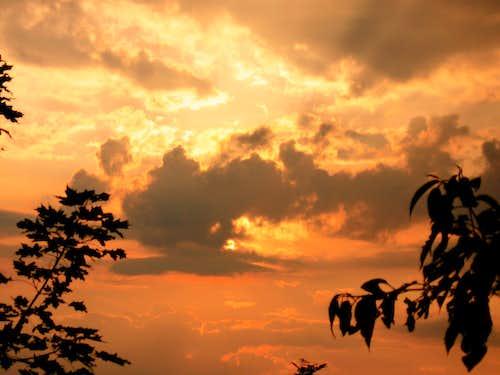 Sunset over Budai-hills 3