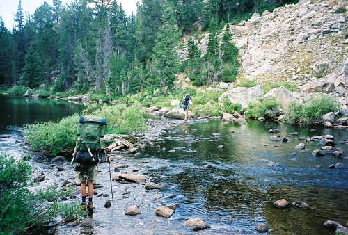 Lower Pole Creek crossing-Bridger Wilderness-Wind River Range-Wyoming