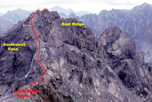 Ingalls Peaks routes from the south
