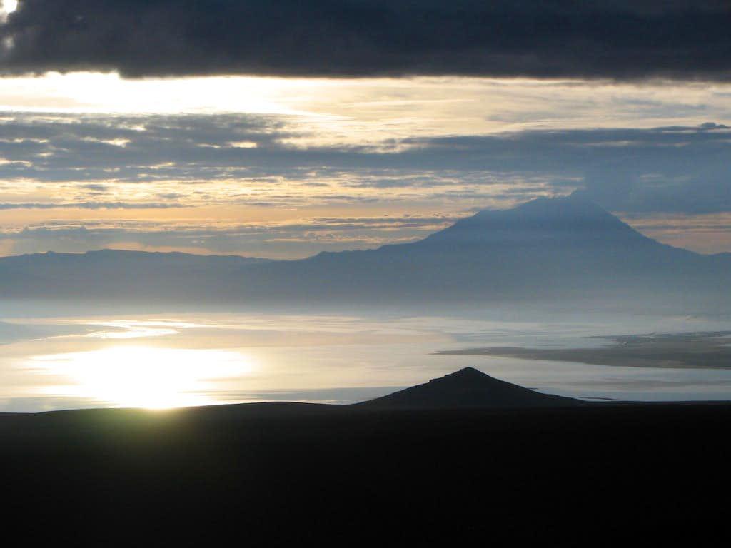 Laguna Salinas at sunrise