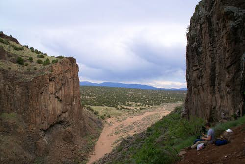 View out of the Canyon