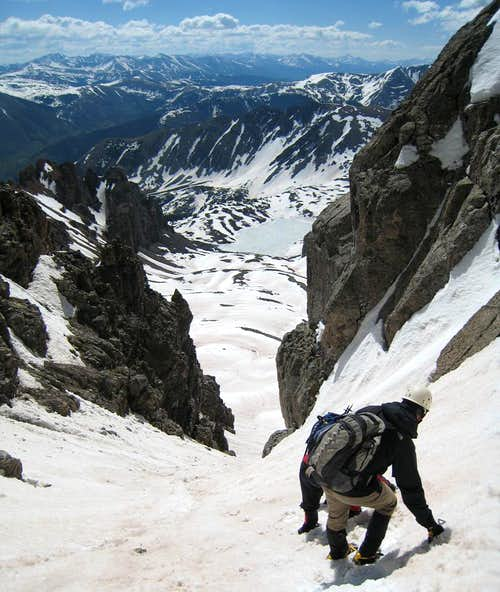 Descending gully