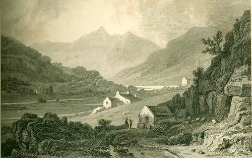 Engraving of Snowdon circa 1830