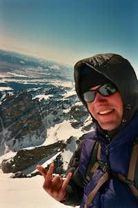 Grand Teton, solo ski descent 3/19/07 with TR link