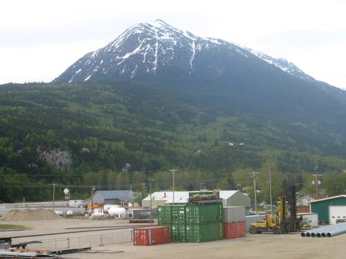 AB Mountain from Skagway Port