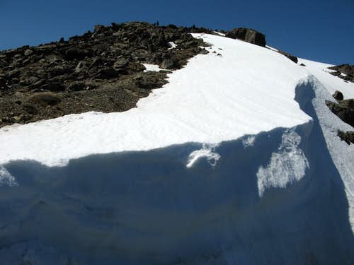 Remains of a cornice near the summit of Mt. Tallac