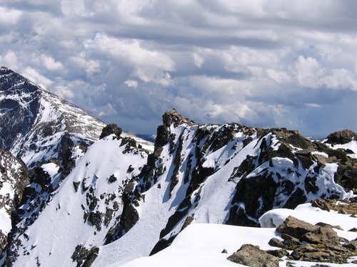 Powell Peak\'s spectacular summit perch