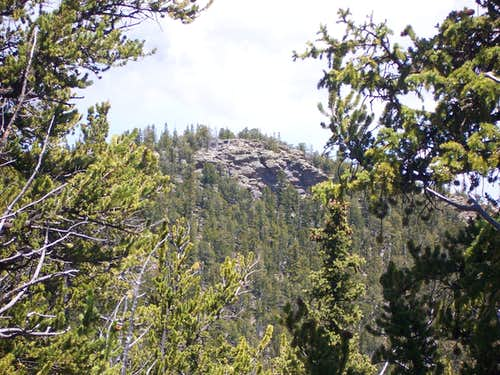 Farnum outcrop from Little Puma