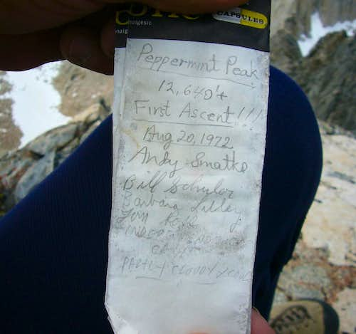 First Ascent Summit Register