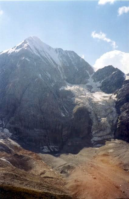 The North Face and ice fall...