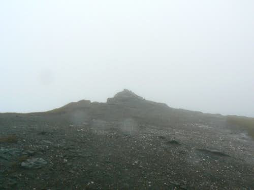 Not the best view of the summit cairn!