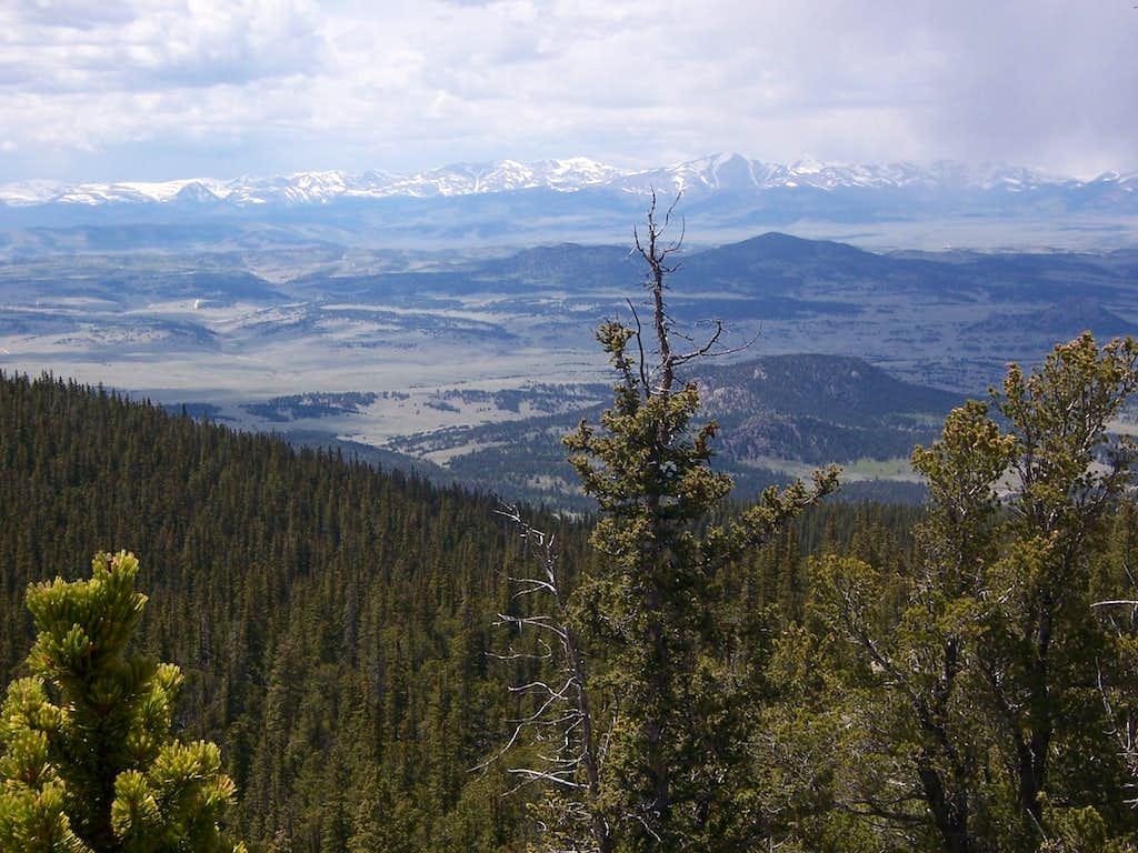Looking west from Farnum summit