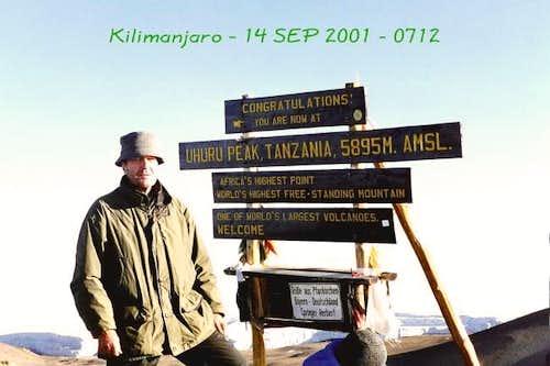14 September 2001 - Machame...