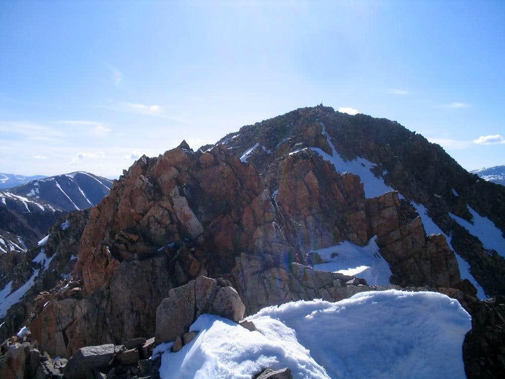 Crux towers on Ervin Peak