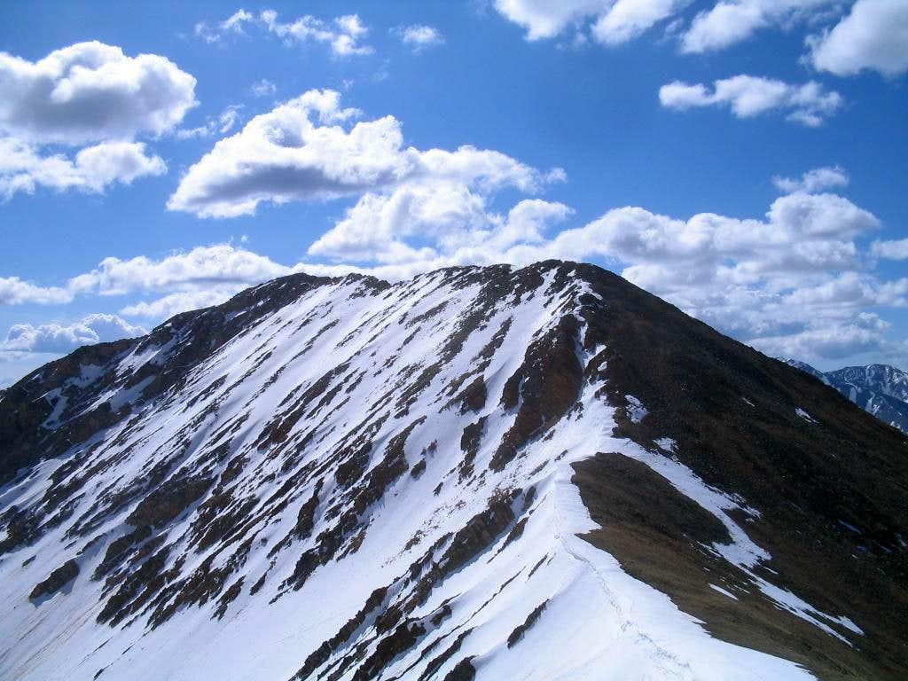 Ervin Peak seen from Mt Blaurock
