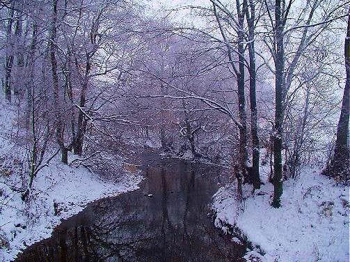 The River Lubatowka in wintertime
