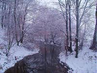 The River Lubatowka in wintertime