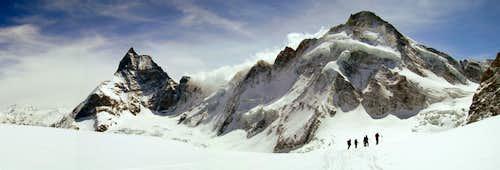 Dent d'Herens and Matterhorn