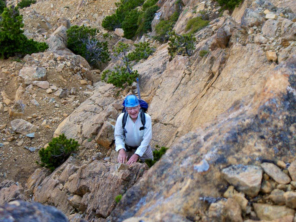 Don Scrambling the Lower West Ridge