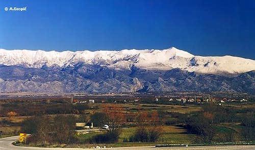 Velebit from Ravni Kotari