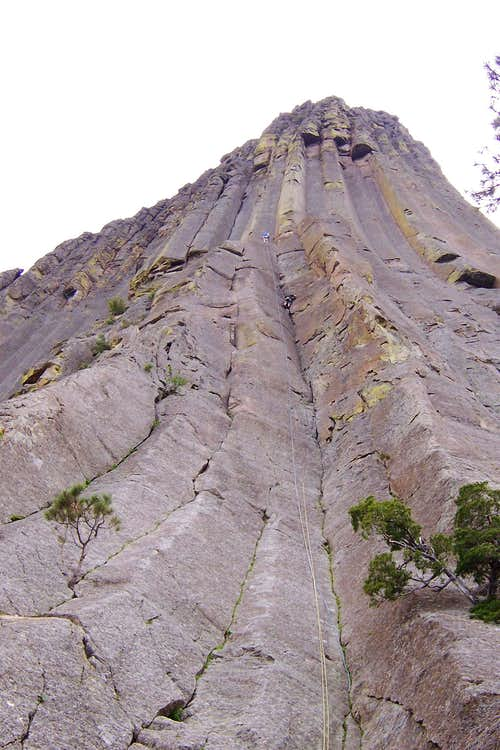 I am belaying my buddy CD up a route on The Tower