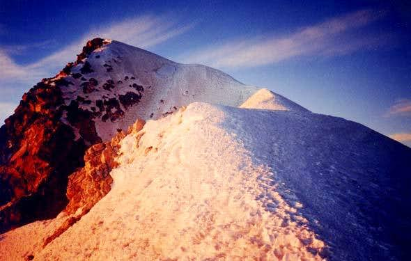 El Pico de Orizaba: The ridge...