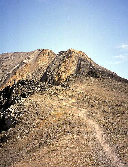 Trail below Chicken Out Ridge,  Borah Peak