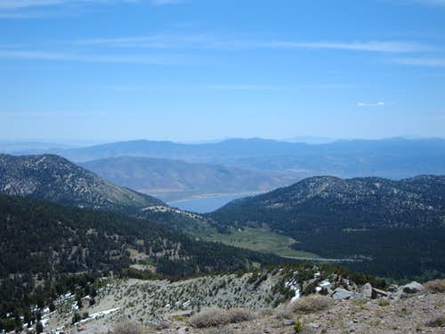 Washoe Lake from near the summit