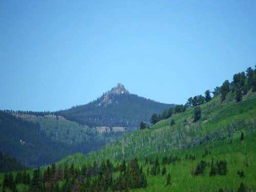 Nipple Peak from Steamboat Lake