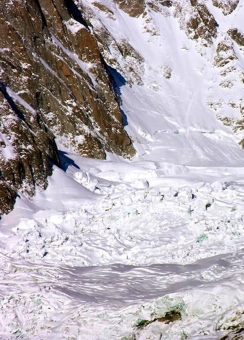 Il ghiacciaio della Brenva