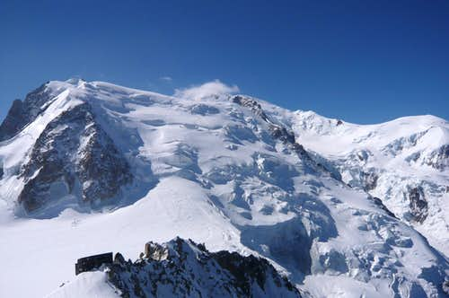 In front of Mont Blanc du Tacul