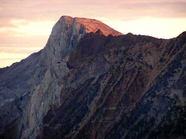 Matterhorn with morning red...