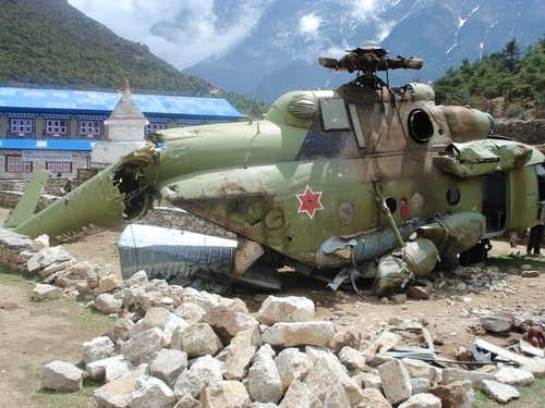 Military Helicopter Crash Above Namche 12000ft