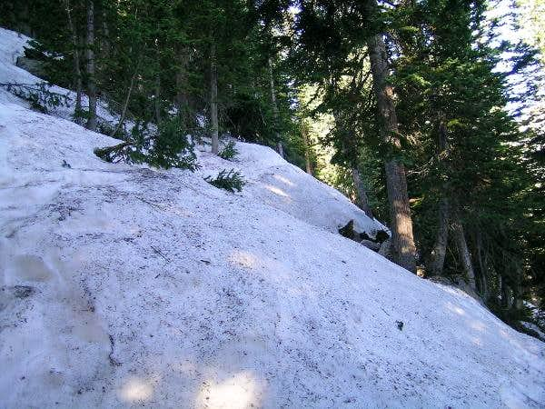 lake haiyaha trail ice