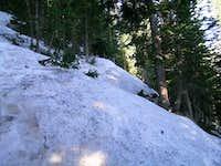 lake haiyaha trail ice