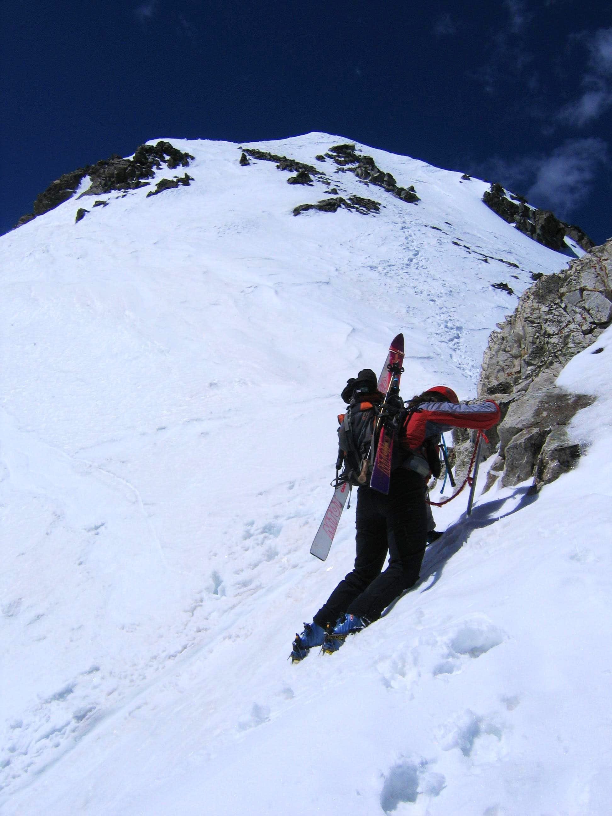 Eroica to Snowboard Descent of NW Couloir
