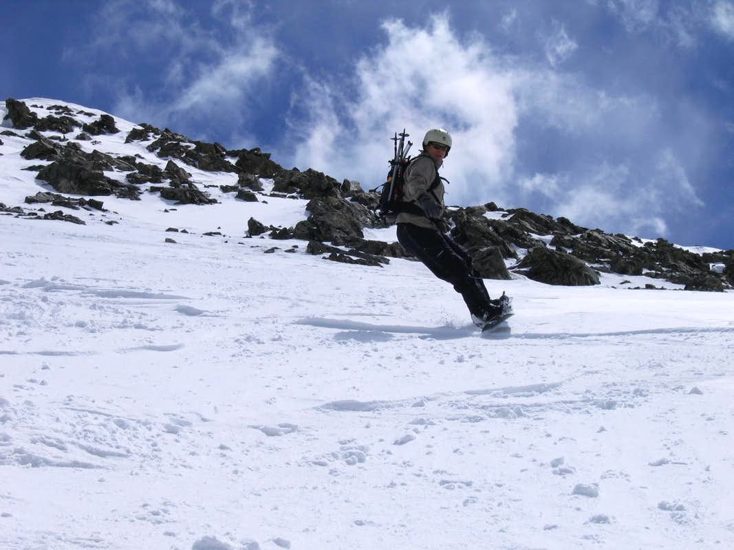 Aaron Riding the NW Couloir