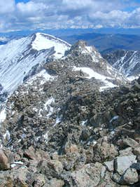 east ridge of Pyramid Peak