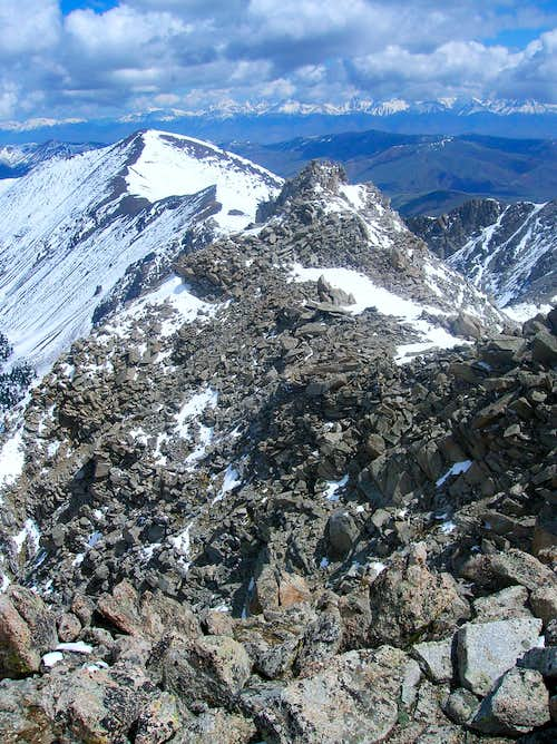 east ridge of Pyramid Peak