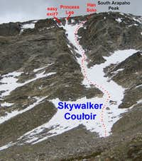Holy Toledo That\'s Steep: Arapaho Peaks Skywalker Couloir & Traverse