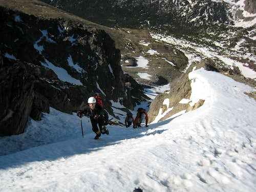 Skywalker Couloir w/traverse of the Arapahos