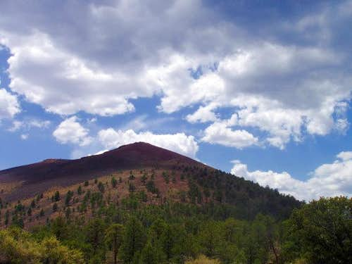 Sunset Crater in the Clouds