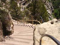 Steep Staircase into Walnut Canyon