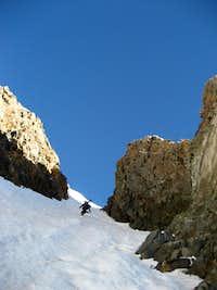 Climbing the Conundrum Couloir