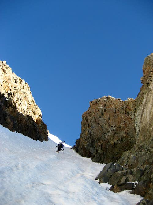 Climbing the Conundrum Couloir