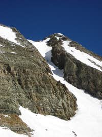 Conundrum Couloir from the base of Castle