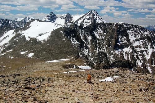 Arapaho Peaks, Shoshoni, Navajo, and Apache from Pawnee